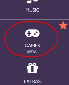 Games tab